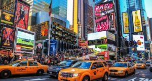 Publicidade cannábica estreia na Times Square em New York